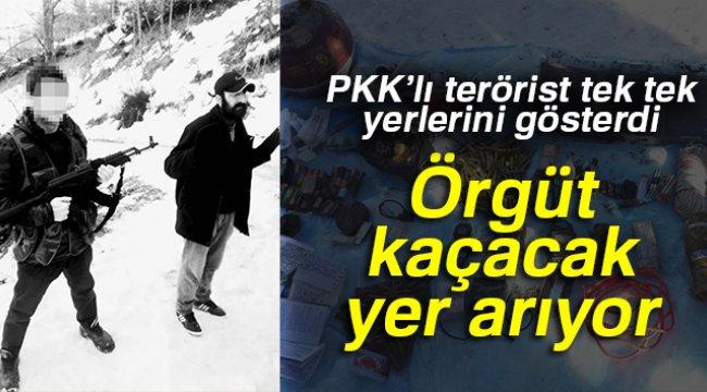PKK'lı terörist yer gösterdi, C4 ve zırh delici patlayıcılar ele geçirildi