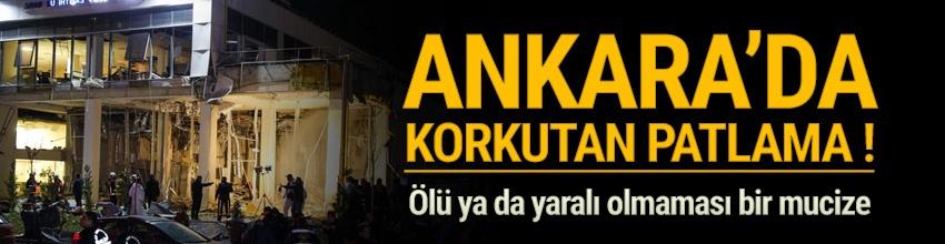 Ankara Çukurambar'daki vergi dairesinin alt katında doğalgaz sıkışması nedeniyle patlama meydana geldi.