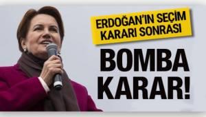 İYİ Parti Genel Başkanı Meral Akşener, cumhurbaşkanlığı adayı olduğunu açıkladı.