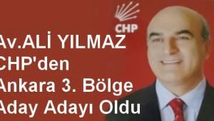 Av.Ali Yılmaz CHP'den Ankara 3. Bölge Aday Adayı Oldu....