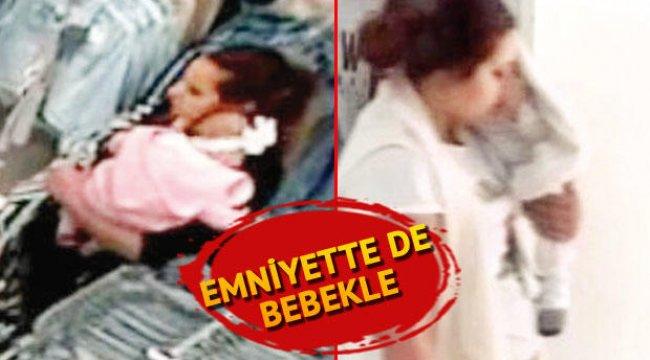 Kucağında bebeğiyle çanta çaldı