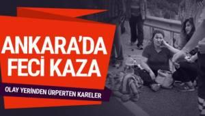 Ankara'da Kızılcahamam ilçesinde meydana gelen trafik kazasında 3 kişi ölürken 6 kişi de yaralandı.
