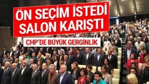 Ankara il Danışma Kurulu toplantısında eski CHP Gençlik Kolları Genel Başkanı Ayhan Yalçınkaya'nın