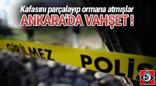 Ankara'nın Altındağ ilçesindeki ormanlık arazide kafası parçalanarak öldürülmüş Suriye uyruklu bir erkek çocuğuna ait ceset bulundu.