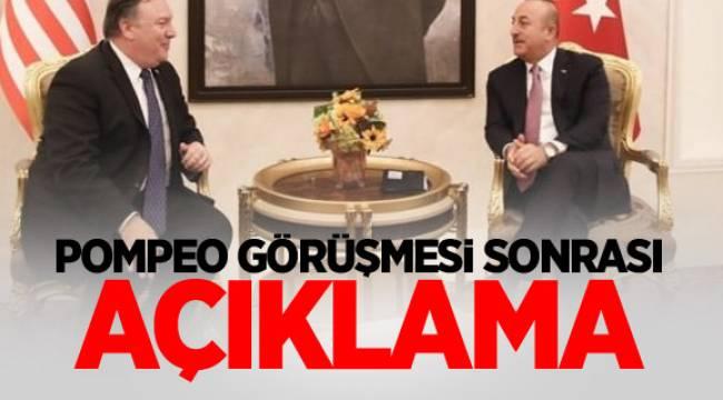 Dışişleri Bakanı ÇavuşoğluABD Dışişleri Bakanı pompeo ile görüşmesi sonrası gazetecilerin sorularını cevaplandırdı.