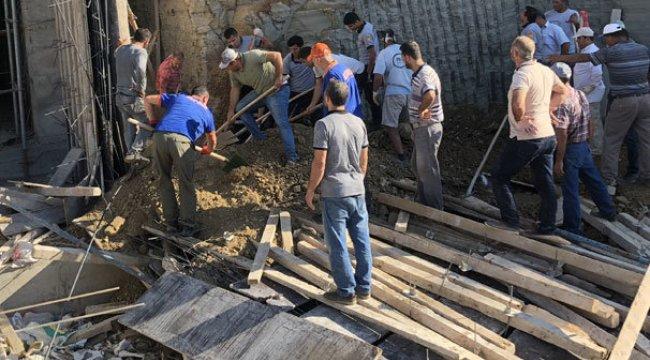 Hatay'da okulun istinat duvarı çöktü: 1 ölü, 2 yaralı