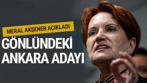 İYİ Parti Genel Başkanı Meral Akşener, Ankara adayının Mansur Yavaş olduğunu söyledi.