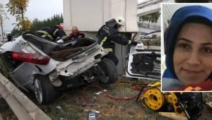 Kadın Sürücünün Öldüğü Kazada Otomobilin Hızı 180'de Takılı Kaldı