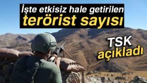 TSK: '38 terörist etkisiz hale getirildi'
