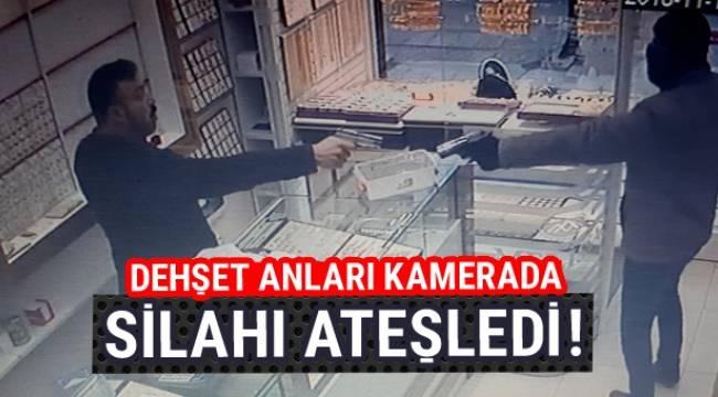 Ankara'da kuyumcuyu soymak isteyen silahlı soyguncu neye uğradığını şaşırdı