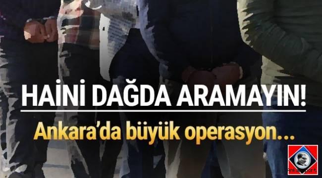 Ankara'da terör örgütü PKK/KCK adına silah zoruyla haraç toplayan suç örgütüne yönelik operasyonda 21 kişi gözaltına alındı.