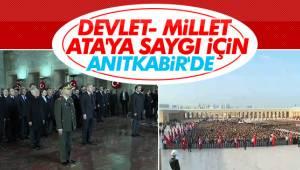 Türk Milleti Atasına Koştu..Anıtkabir'de Ziyaretçi Akını!