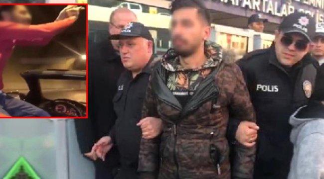 Üstü Açık Arabada Dans Eden ve Görüntüleri Sosyal Medyadan Yayınlayan Sürücü, Gözaltına Alındı