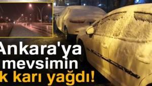 Ankara'da mevsimin ilk kar yağışı, gece yarısı başladı...