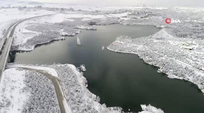 Başkent Beyaza Büründü...kartpostallık Görüntüler Havadan Görüntülendi