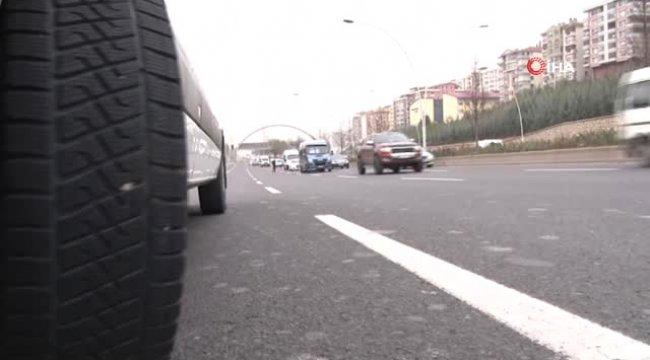 Başkent'te 'Kış Lastiği' Uygulaması Başladı