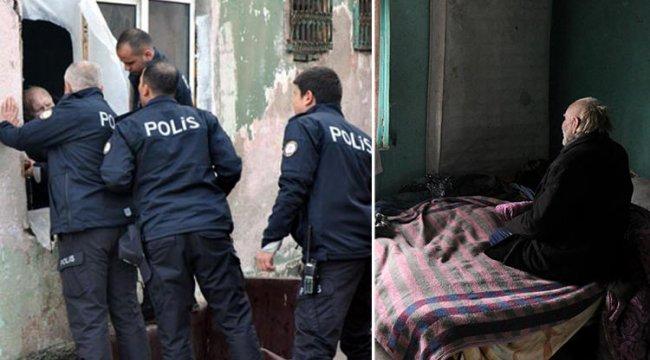 Polis ne yapsa yaşlı adamı ikna edemedi