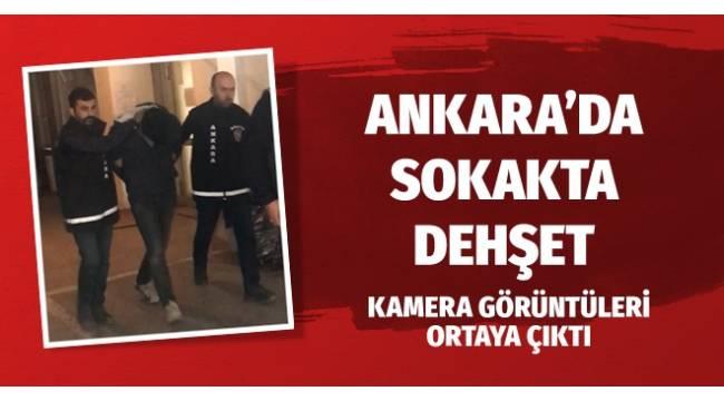 Ankara'da bir kişi genç kızın telefonunu çakmakla gasbetti