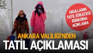 Ankara'da okulların tatil olacağı yönündeki sosyal medya paylaşımları üzerine Ankara Valiliği'nden açıklama geldi.