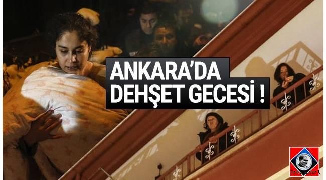 Ankara Mamak'ta üç katlı binanın birinci katında yangın meydana geldi.