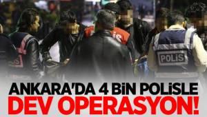 Ankara'nın Altındağ ilçesinde 4 bin polisin katılımıyla narkotik uygulaması yapıldı.