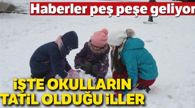SON DAKİKA: Okullar TATİL Mİ? |17 OCAK Okullar Tatil edildi mi? | İstanbul ve Ankara'da Okullar tatil edildi mi?