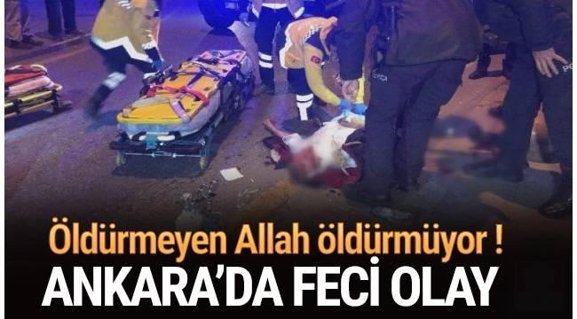 Ankara Çankaya İlçesinde bulunan Mithatpaşa Köprüsü'nde intihar etmek isteyen bir kişi ipin kopmasıyla ölümden döndü.