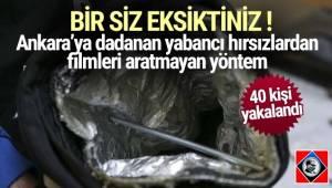 Ankara'da özel düzenekli çanta ile elektronik eşya satan iş yerlerinden hırsızlık yapan 3'ü Gürcistan uyruklu 4 zanlı yakalandı.