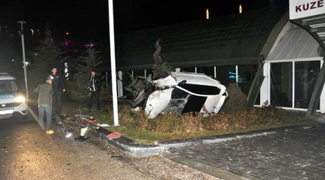 Virajda Savrulan Otomobil, 100 Metreden Vadiye Uçtu