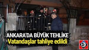 Ankara'da çökme tehlikesi olduğu tespit edilen bir bina boşaltıldı.