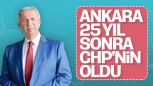 Ankara 25 yıllık sağ partiler tarafından yönetilmenin ardından 31 Mart seçimiyle CHP'ye geçti.