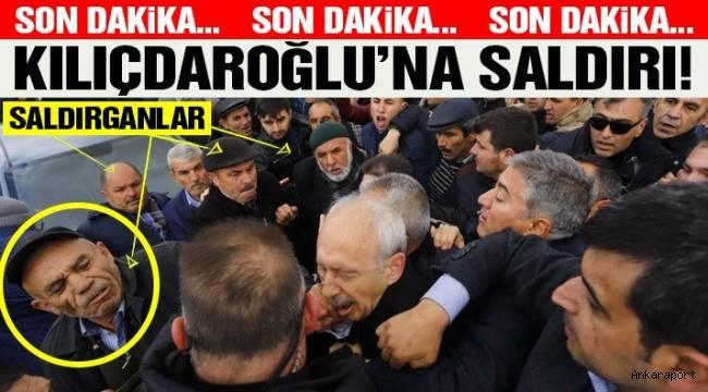 CHP Genel Başkanı Kemal Kılıçdaroğlu, Ankara'nın Çubuk ilçesinde katıldığı şehit cenazesinde saldırıya uğradı.