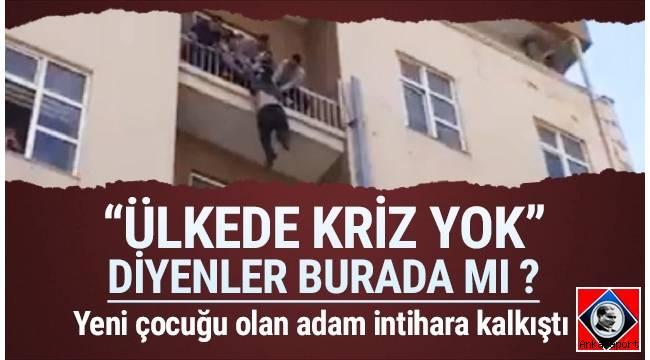 Ankara'da yeni bir çocuğu dünyaya gelen adam, maddi sıkıntıları yüzünden yaşamına son vermeye çalıştı.