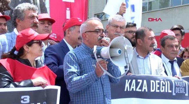 Soma'da Ölen Maden İşçileri Ankara'da Anıldı