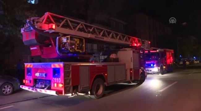 Ankara'da 3 kişi yangından son anda kurtarıldı