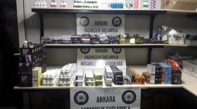 Ankara'da kaçak cinsel içerikli kaçak ürün operasyonu