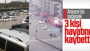 Ankara'daki sel felaketinde 3 kişi hayatını kaybetti...
