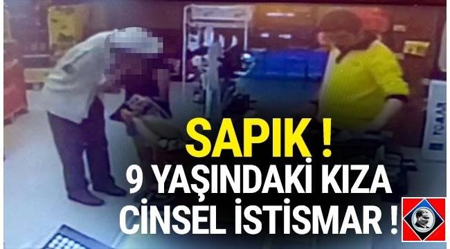 Ankara'nın Çankaya ilçesinde marketteki kasada ödeme yapan 9 yaşındaki kızı dudağından öpen kişi polis tarafından gözaltına alındı.