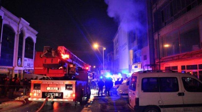 Ankara'da 16 katlı binada korkutan yangın! Tüm bina tahliye edildi
