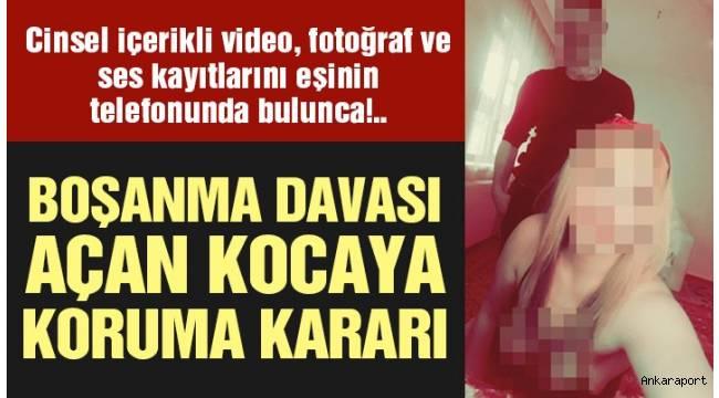 Ankara'da eşine boşanma davası açan kocaya koruma kararı...