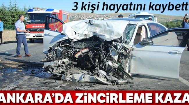 Ankara'da feci kaza: 3 ölü !
