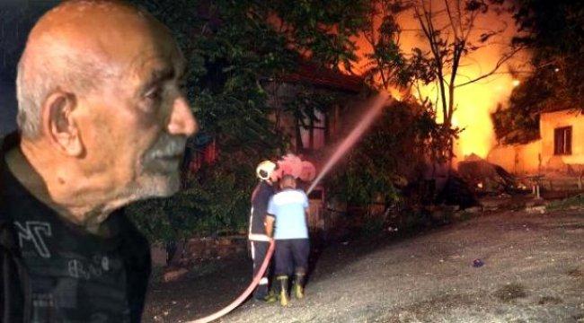 Ankara'da yaşlı adam, bahçesinde baktığı kedilerin sesine uyanıp yanmaktan kurtuldu