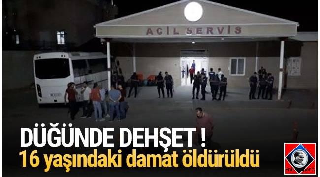 Ankara'nın Sincan ilçesinde düğünde çıkan ''yan bakma'' kavgasında 16 yaşındaki damat kurşunların hedefi oldu.