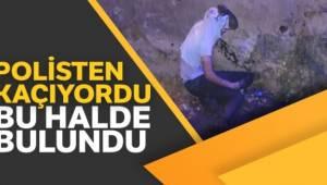 Ankara'da polisten kaçan alkollü sürücü, çaya düştü...