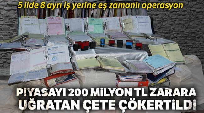 Ankara'da 1 milyarlık sahte fatura ile kamuyu 200 milyon TL zarara uğrattılar