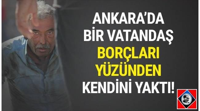 Başkent Ankara'da Güvenpark Meydanı'nda 45-50 yaşlarındaki bir vatandaş kendisini yaktı.