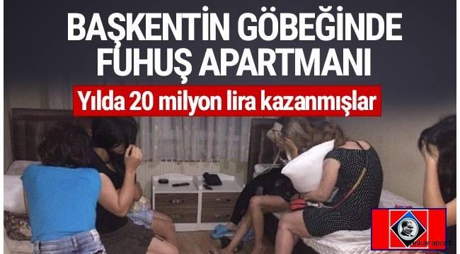 Ankara'da fuhuş çetesi çökertildi !