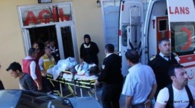 Ankara'nın Haymana ilçesinde,7 yaşındaki kız öğrenciye motosiklet çarptı.