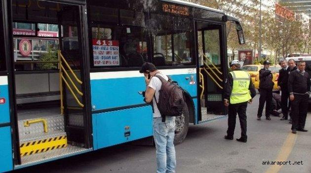 Ankara'da Otobüsün Altında Kalan Kadın Ağır Yaralandı
